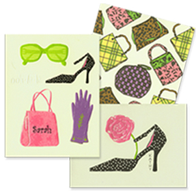 Sampling of fun stationery –Crane, Julie Azan, Faux Design, Picture Perfect, Inviting Company